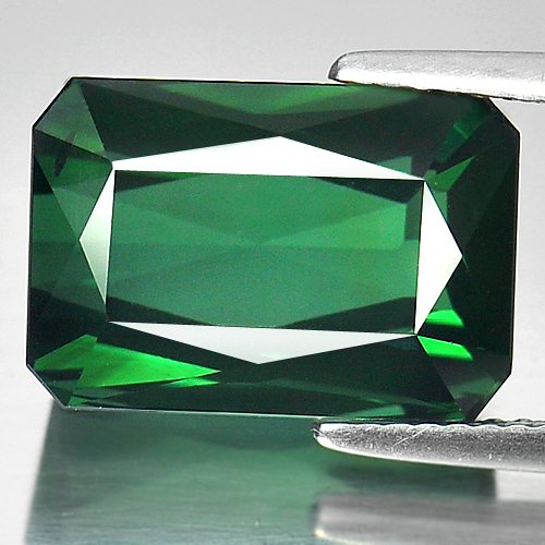 Certified 10.53 Ct. Natural Gemstone Clean Green Tourmaline Unheated