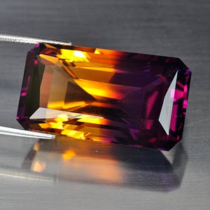 Unheated 39.47 Ct. Clean Hydrothermal Bi Color Ametrine