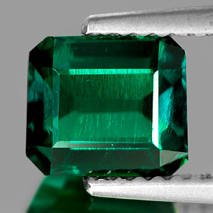 1.45 Ct. Clean Octagon Green Emerald Created Gem Russia