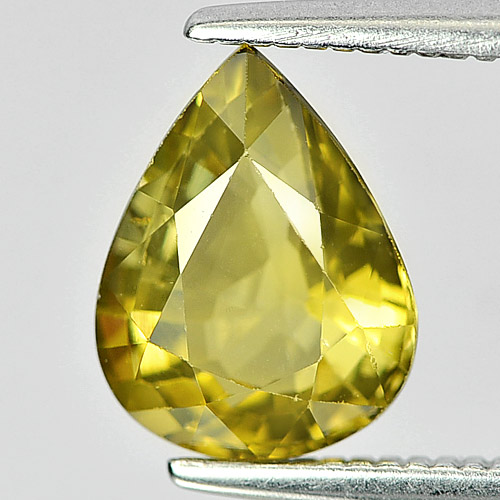 Attractive Gem 1.61 Ct. Pear Natural Greenish Yellow Chrysoberyl
