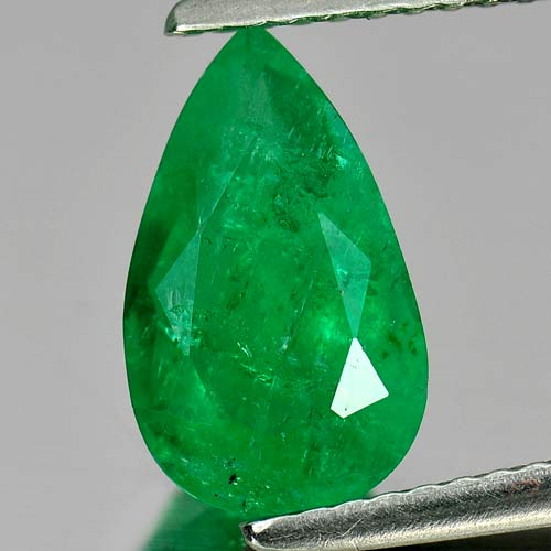 Unheated 1.69 Ct. Pear Natural Rich Green Emerald Gem