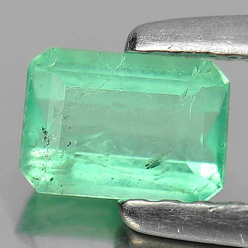 0.41 Ct. Attractive Octagon Natural Gem Green Emerald Unheated