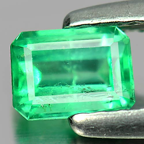 Unheated 0.39 Ct. Octagon Shape Natural Green Emerald Gemstone