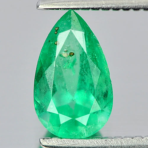 0.64 Ct. Pear Shape Natural Gemstone Green Emerald From Columbia