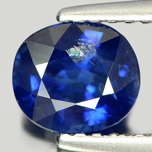 Certified 1.16 Ct. Oval Shape Natural Gem Blue Sapphire Thailand