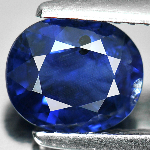 Certified 1.57 Ct. Oval Shape Natural Gem Blue Sapphire Nigeria