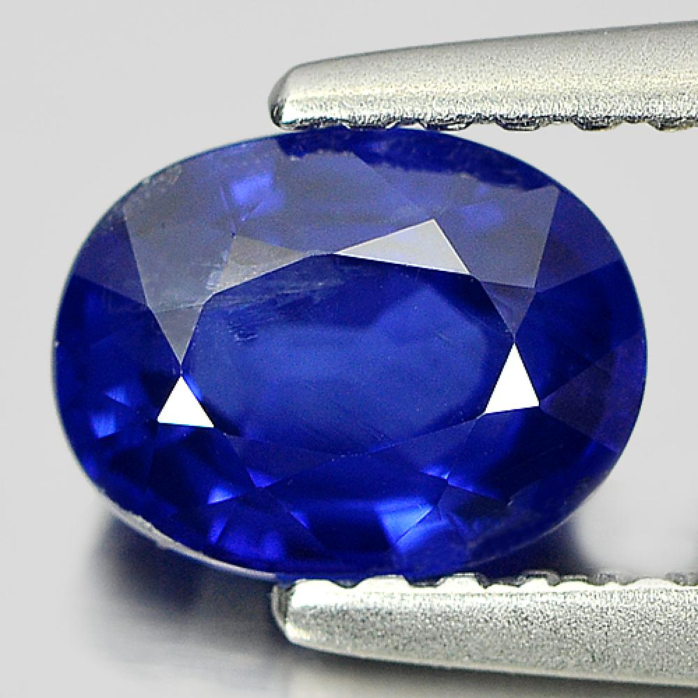 Certified Oval Shape 1.16 Ct. Natural Gemstone Blue Sapphire Madagascar