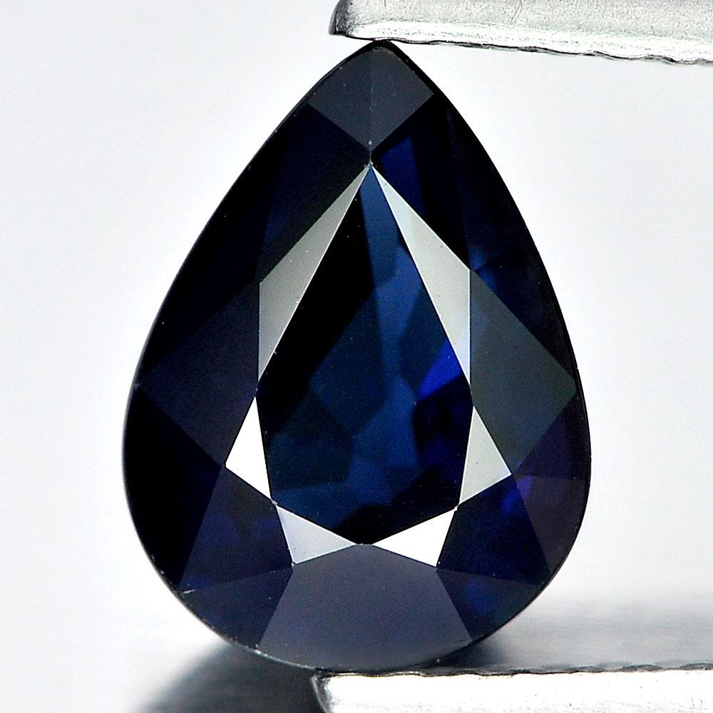 Certified 2.08 Ct. Pear Natural Blue Sapphire From Madagascar