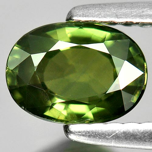 1.12 Ct. Attractive Natural Green Sapphire Gemstone Oval Shape