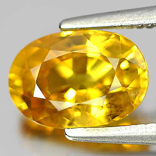 Attractive Gem 1.88 Ct. Oval Shape Natural Yellow Sapphire Thailand