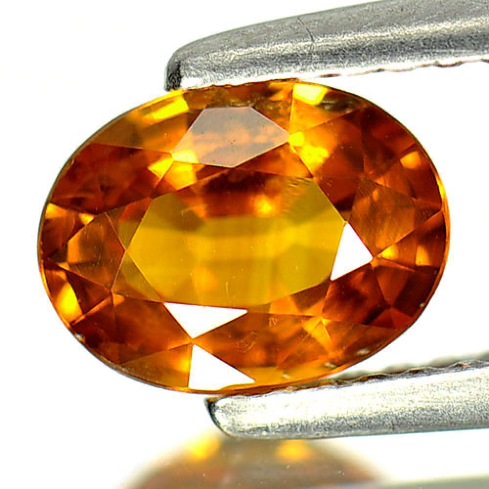 1.27 Ct. Attractive Gemstone Natural Yellow Sapphire Oval Shape
