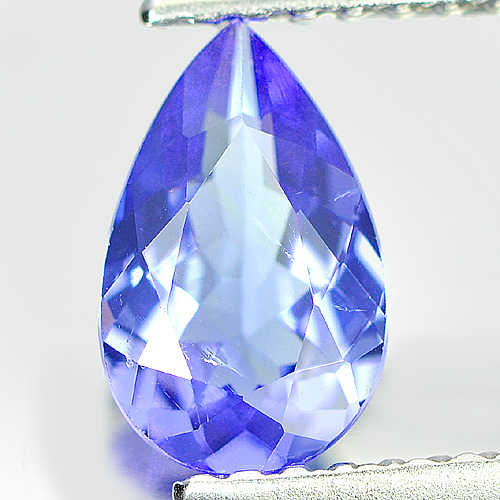 0.80 Ct. Attractive Pear Natural Violet Blue TANZANITE