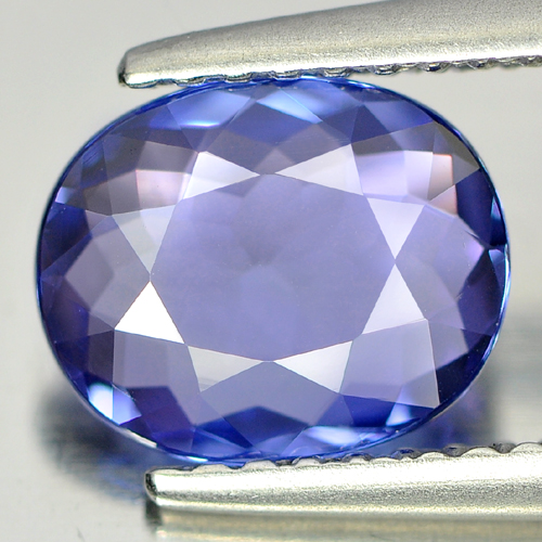 Certified 1.28 Ct. IF Natural Violetish Blue Tanzanite