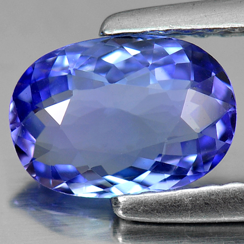 Certified 1.06 Ct. Clean Oval Natural Violetish Blue Tanzanite Gem Tanzania