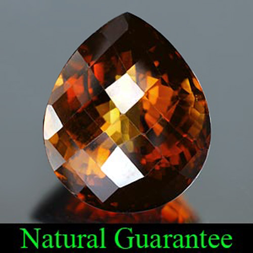 Unheated 40.82 Ct. Pear Checkerboard Natural Gemstone Imperial Topaz From Brazil