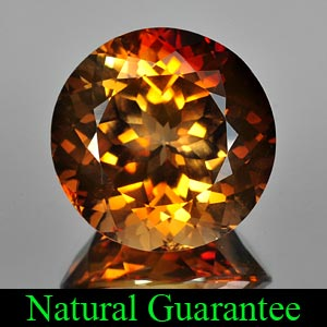 Certified 48.88 Ct. Clean Round Natural Imperial Topaz