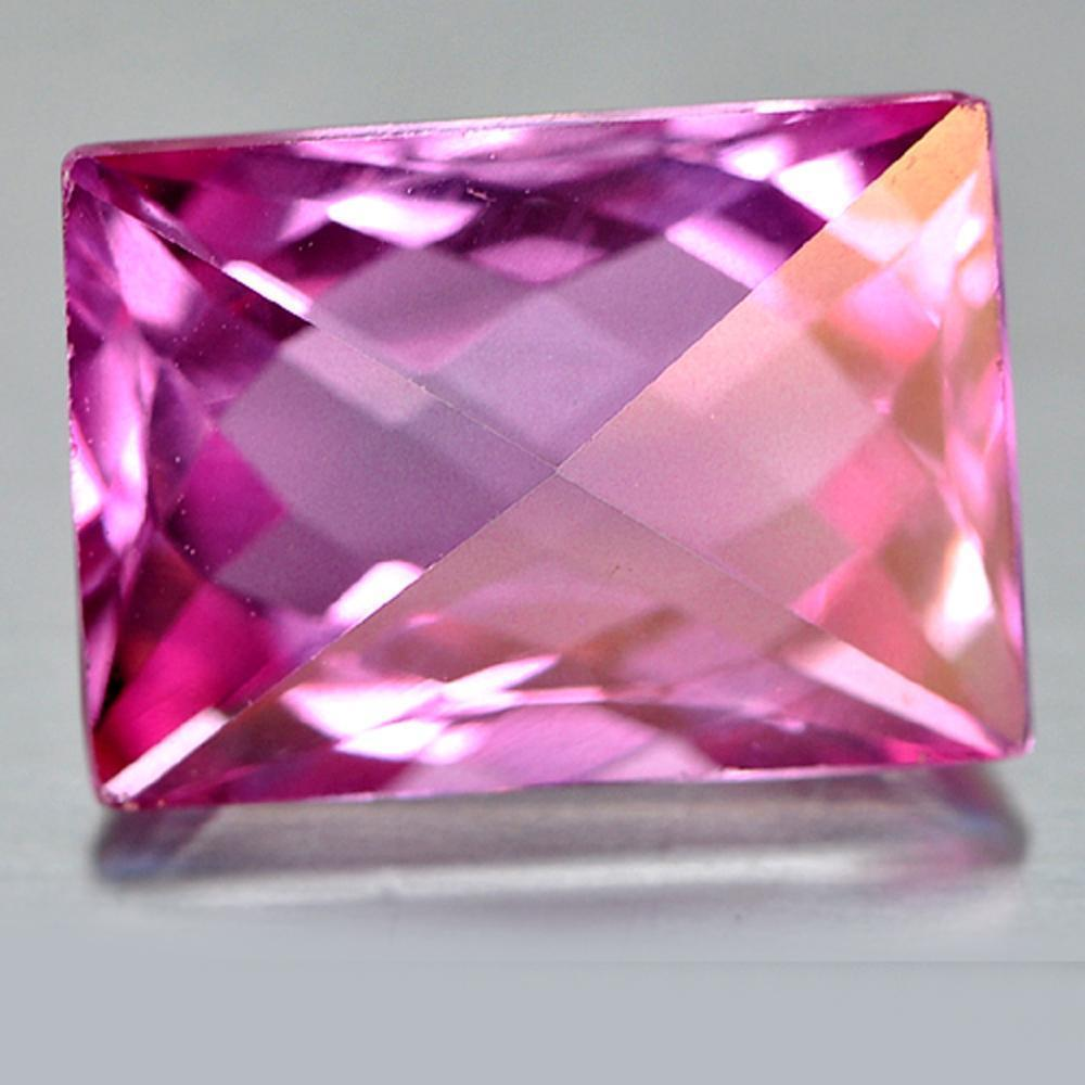 9.87 Ct. Clean Natural Hot Pink Topaz Baguette Fancy Cut Brazil