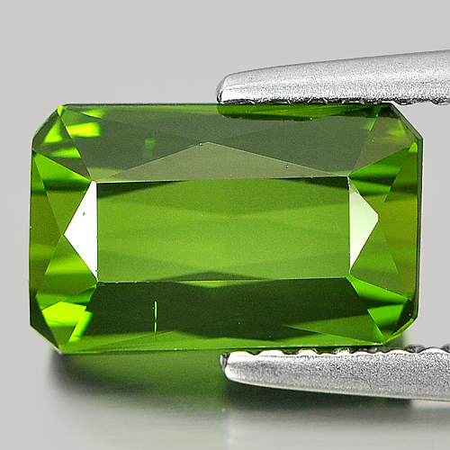 Unheated 2.18 Ct. Octagon Cut Natural Gem Green Tourmaline