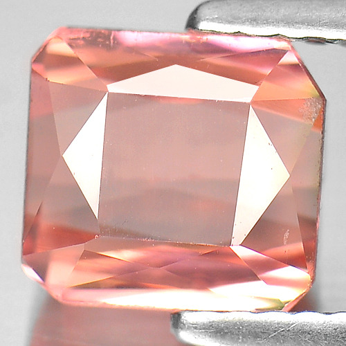 2.28 Ct. Octagon Natural Gemstone Orangish Pink Tourmaline Unheated