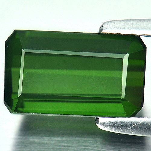 Natural Gemstone 2.01 Ct. Octagon Shape Green Tourmaline Unheated