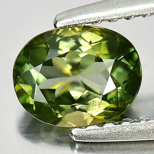 0.77 Ct. Oval Shape Natural Gem Green Tourmaline Unheated